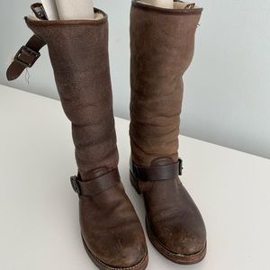 Used Frye boots size 7-8 women's